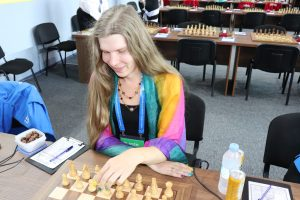 Showing my colours in Chess Olympiad.